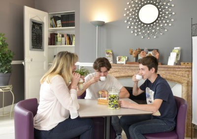 Café en salle de réception